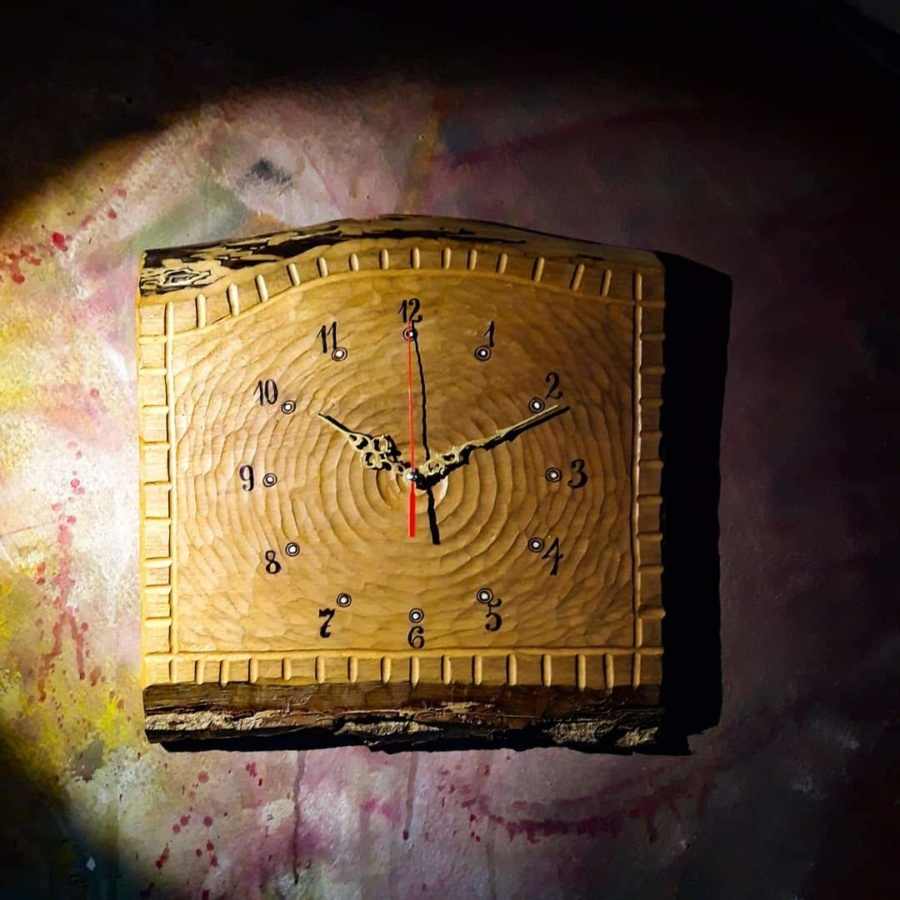hodiny, dřevene hodiny, hand made, uměni, art