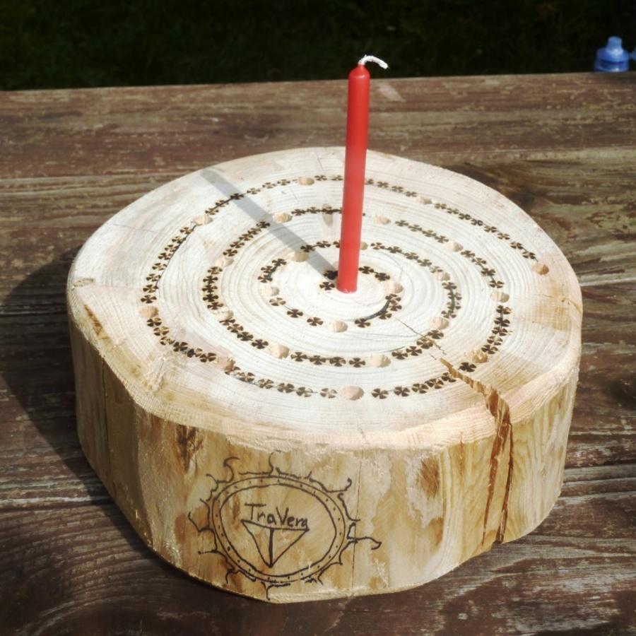 Adventní kalendář, advent, Vánoce, spirála, dřevěná dekorace, svícen