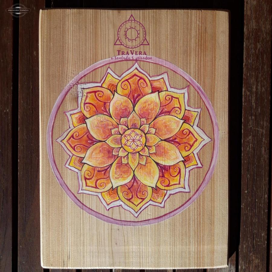 mandala, obraz, dřevěný obraz