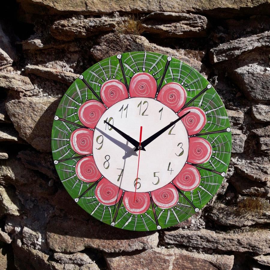manddala, hodiny, dekorace, domov, handmade